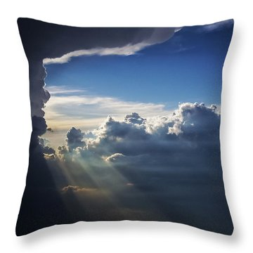 Light Shafts From Thunderstorm II Throw Pillow
