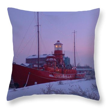 Throw Pillow featuring the photograph Light Ship by John Williams