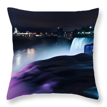 Throw Pillow featuring the photograph Light Show by Mihai Andritoiu