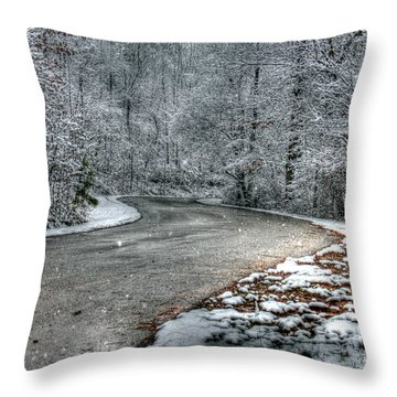 Light Snow Throw Pillow by Andy Lawless