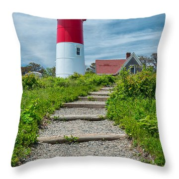 Light Steps Throw Pillow