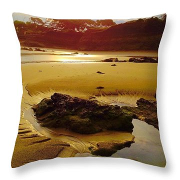 Low Tide Throw Pillow by Caz' Seize the momento A