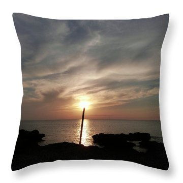 Light The Sun Throw Pillow by Amar Sheow
