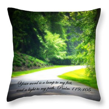Light To My Path Throw Pillow