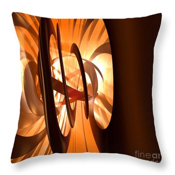 Light Transference Throw Pillow by Peter R Nicholls