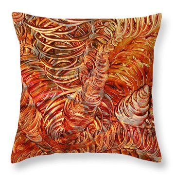 Throw Pillow featuring the mixed media Light Twist by Sami Tiainen