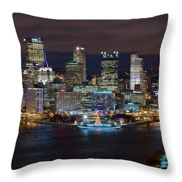 Light Up Night Pittsburgh 3 Throw Pillow