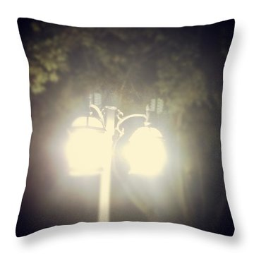 Throw Pillow featuring the photograph Light Up The Night by Thomasina Durkay