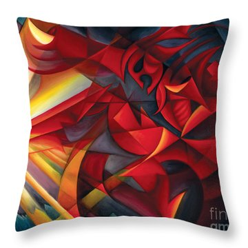 Light Warrior Throw Pillow by Tiffany Davis-Rustam