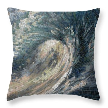 Light Wave  Throw Pillow