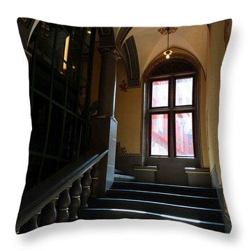 Lighted Stairs Throw Pillow