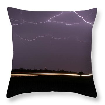 Throw Pillow featuring the photograph Lightening Bolts by Charles Beeler