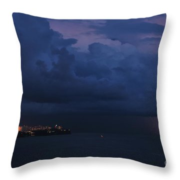 Throw Pillow featuring the photograph Lightening by Erhan OZBIYIK