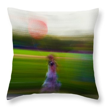 Throw Pillow featuring the photograph Lighter Than Air by Alex Lapidus