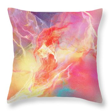Lighthearted - Abstract Art Throw Pillow