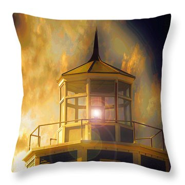 Throw Pillow featuring the photograph Lighthouse  by Aaron Berg