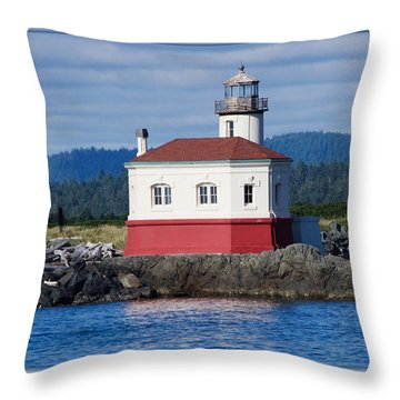 Lighthouse Throw Pillow by Adria Trail