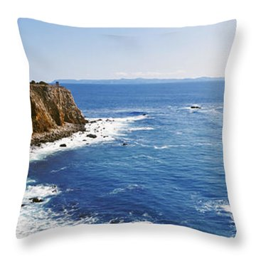 Lighthouse At A Coast, Point Vicente Throw Pillow by Panoramic Images