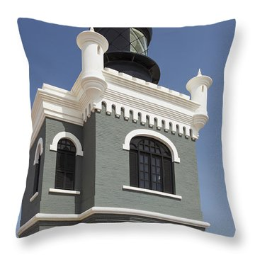 Lighthouse At El Morro Fortress Throw Pillow