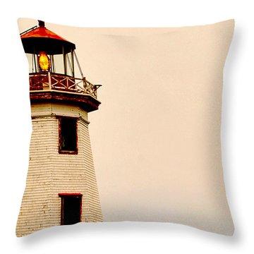 Lighthouse Beam Throw Pillow