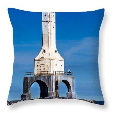 Lighthouse Blues Vertical Throw Pillow