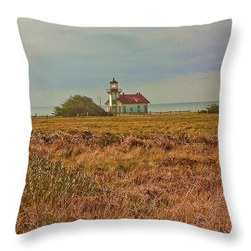 Lighthouse Throw Pillow by Brian Williamson
