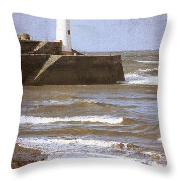 Lighthouse Throw Pillow by Amanda Elwell