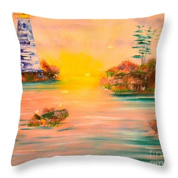 Lighthouse For Mom Throw Pillow