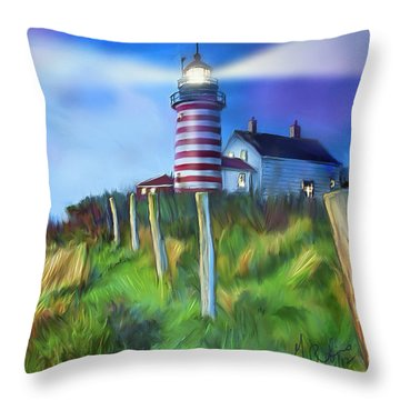 Lighthouse Throw Pillow by Gerry Robins