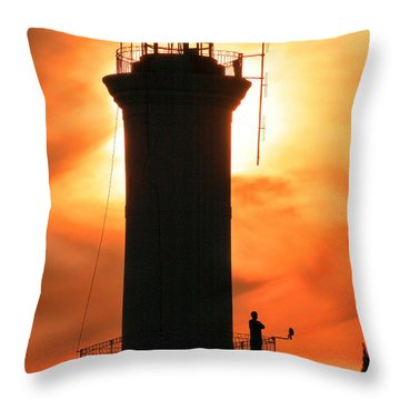 Throw Pillow featuring the photograph Lighthouse I by Bernardo Galmarini