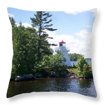 Lighthouse Island Throw Pillow