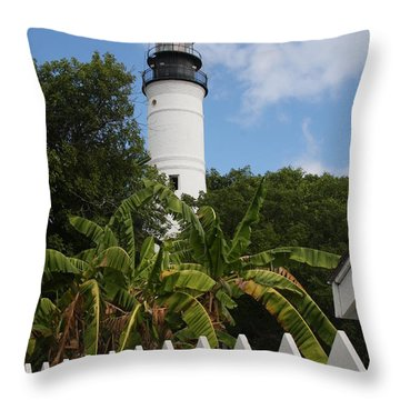 Throw Pillow featuring the photograph A Sailoirs Guide On The Florida Keys by Christiane Schulze Art And Photography