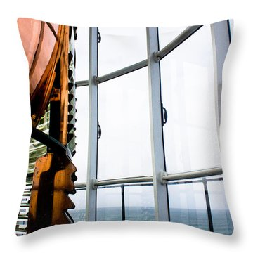 Lighthouse Lens Throw Pillow