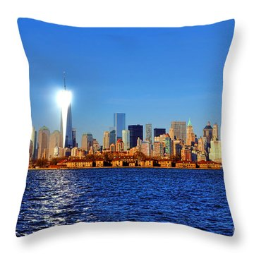 Lighthouse Manhattan Throw Pillow by Olivier Le Queinec