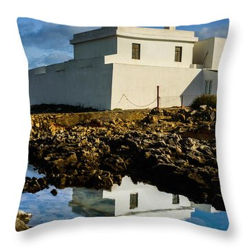 Lighthouse Throw Pillow by Marco Oliveira