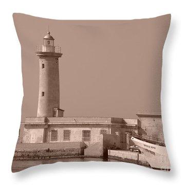 Lighthouse Marsala Throw Pillow