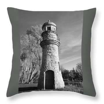 Lighthouse Of Stone Throw Pillow by Kathleen Struckle
