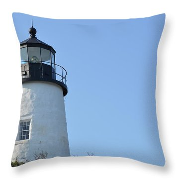 Lighthouse On Clear Day Throw Pillow