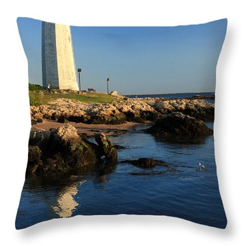 Lighthouse Reflected Throw Pillow by Karol Livote