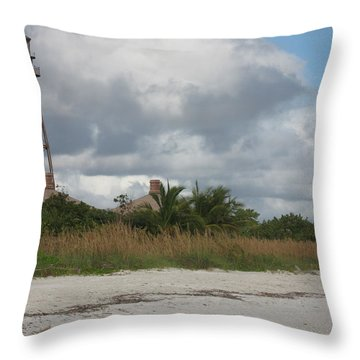 Throw Pillow featuring the photograph Sanibel Island Light by Christiane Schulze Art And Photography