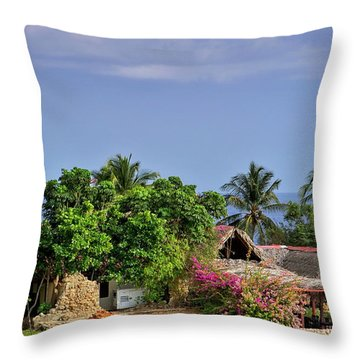 Lighthouse Santiago De Cuba Throw Pillow