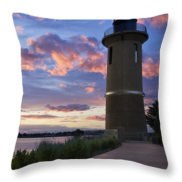 Throw Pillow featuring the photograph Lighthouse by Sonya Lang
