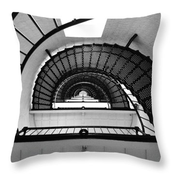 Lighthouse Spiral Throw Pillow by Beverly Stapleton