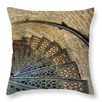 Lighthouse Spiral Staircase Throw Pillow