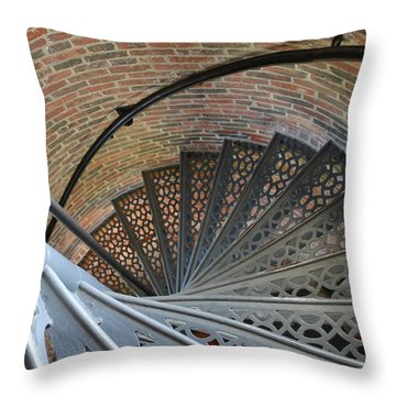 Throw Pillow featuring the photograph Lighthouse Stairs by Colleen Williams