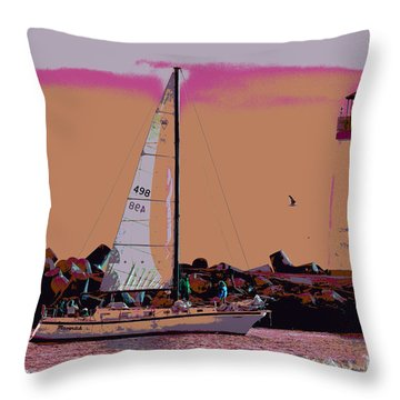 Lighthouse Tour 8940 Throw Pillow by Tom Kelly