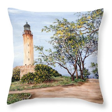 Lighthouse Throw Pillow by Victor Collector