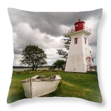 Lighthouse Victoria By The Sea Pei Throw Pillow by Edward Fielding