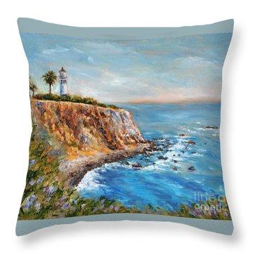 Lighthouse View Throw Pillow by Jennifer Beaudet