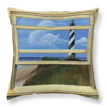 Lighthouse Window Throw Pillow